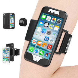 Wholesale Band Phone Covers - Arm Band Phone Case For iPhone 8 7 6S 6 Plus 5 5S SE Silicone Back Case Sport Running Gym Arm Band Belt Cover