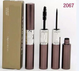 Wholesale Best Selling Mascara - 12 PCS FREE SHIPPING MAKEUP 2016 Lowest Best-Selling good sale Newest Products liquid Mascara 2in1 black good quality