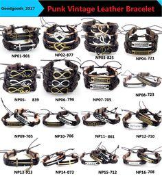 En gros Bijoux De Mode d'ancrage Alliage En Cuir Bracelet Hommes Casual personnalité PU Tissé Perlé Bracelet Vintage Punk Bracelet Femmes M833 ? partir de fabricateur