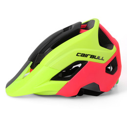 Wholesale Mens Mountain Bike Helmets - Cycling Helmet EPS + PC IN-MOLD Mens Bicycle Helmet All Mountain helmet Road Bike Safely Caps Casco Ciclismo
