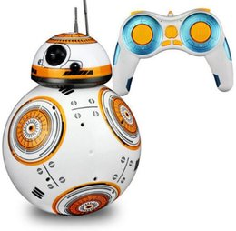 Wholesale Small Plastic Robot Toy - Star Wars RC BB-8 Robot Star Wars 2.4G remote control BB8 robot intelligent small ball Action Figure Toys Christmas Gift