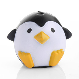 Wholesale Fun Science Toys - 12 CM Jumb Squishy Penguin Squeeze Stretch Soft Slow Rising Strap Fun Toy Gift