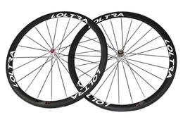 Wholesale Road Bike Race Wheels - 700C Full Carbon 38 Clincher Road Bike Wheels 25 mm Width Road Bike Wheelset White Hub A271SB Hub Road Bicycle Wheel Racing Wheelset