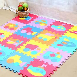 Wholesale Eva Puzzle Carpet - Wholesale- 32*32*1cm 10pcs set Puzzle carpet baby play mat puzzle mat EVA baby foam floor mats children's rugs
