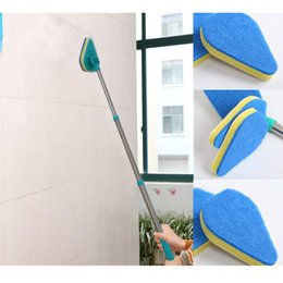 Wholesale Electric Retractable - Wholesale New Clean Reach Sponge Scouring Pad Cleaning Brush Three Retractable Rods Multi-Function Electric Long Handle Household
