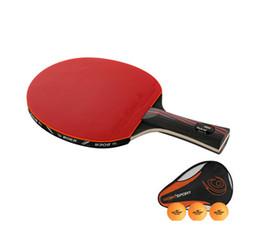 Raqueta de tenis de fibra de carbono Raqueta de tenis de doble cara Pimples-in Raqueta de tenis de goma desde fabricantes