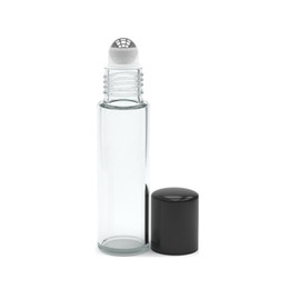 Wholesale Small Perfume Roller Bottles - Free Shipping DHL Factory Price 10ml Roll on Perfume Bottles 10 ml Clear Essential Oil Glass Bottles 10 ml Small Glass Roller Container
