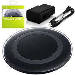 Wholesale Charger For Usb Devices - Wireless Charger Pad For Samsung Galaxy S6 S6 Edge QI Wireless Charging Pad With USB Cable For All Qi-Enabled Devices