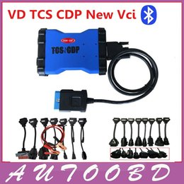 Wholesale New Tcs Cdp Pro Plus - New Blue VD TCS CDP PRO Plus with Bluetooth cdp pro for Cars Trucks 3IN1 with full 8 car cables+ 8 truck cables--DHL FREE SHIP