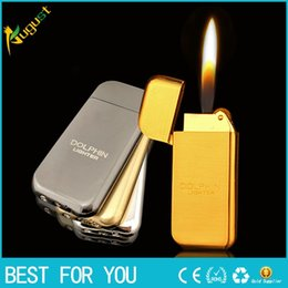 Wholesale Pearl Lighter - DOLPHIN076 Creative Pearl grinding wheel flame lighters metal lighter butane gas lighter jet torch lighter