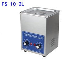 Wholesale Stainless Steel Ultrasonic Jewelry Cleaner - 2L 80W Stainless Steel Professional Ultrasonic Jewelry Denture Cleaner with Digital Timer & Heater Free basket 110V 220V PS-10A