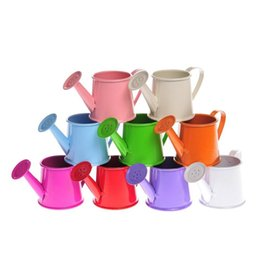 Wholesale Garden Water Buckets - 100 pcs lot watering can shaped wedding bucket favor box for garden wedding gifts Free shipping