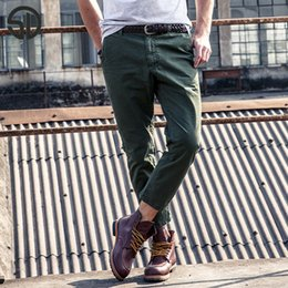 Wholesale Mens Colorful Pants - Wholesale- Woodvoice 2017 Hot SaleFashion Jogger Men Pants Casual Trousers High Quality Cotton Business Straight Mens Pants Colorful Pants