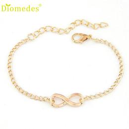 Wholesale India Charms - Hot Women Girl Handmade Gift Charm 8 Shape Jewelry Bracelet Korean Bracelets online shopping india femme silver-jewelry S32