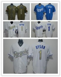 Wholesale Kansas Rugby - #1 Jarrod Dyson Jerseys 2016 Cheap Mens Kansas City Royals Dyson Royals Rugby Jerseys Authentic Stitched High Quality Baseball jerseys