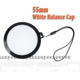 Wholesale Wb Wholesale - Wholesale-wholesale-55mm White Balance Lens Cap with WB Filter Mount for Digital Camera Filter Lens