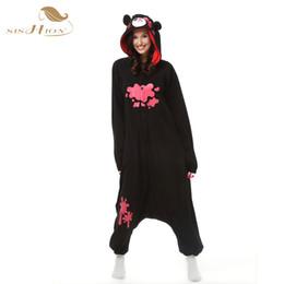 Wholesale Womens Onesie Pyjamas - 9 styles Unisex Adults Flannel Animal Pajamas Panda Minion Womens Sleepwear Cosplay Pijama Onesie Pyjamas Robe OS0017-24