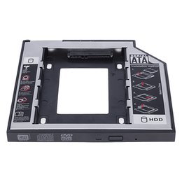 "Wholesale 2nd Caddy - Aluminum+Plastic Universal 2nd HDD Caddy 9.5mm SATA 3.0 2.5"" SSD Case Hard Disk Drive Enclosure ODD Optical Bay"