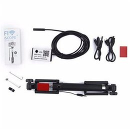 Wholesale Handheld Video Inspection - 2MP 7mm Selfie Stick Monopod Handheld Wireless Video WiFi Endoscope Borescope Inspection Camera For ANdroid IOS WP Phone