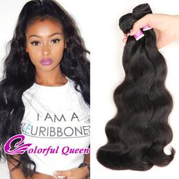 Wholesale Cheap Colorful Weaves - Colorful Queen Cheap Unprocessed Human Hair Bundles 3 pcs Brazilian Virgin Hair Body Wave Bundles Brazilian Body Wave Hair Weaves 300g