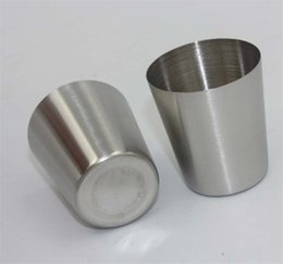 Wholesale Water Rinses - 50ml Portable Stainless Steel Wine Cup Anti-Broken Cups Rinse cups Coffee Mugs Office Water Cups High quality