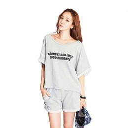 Wholesale Pajamas Shorts Set Plus - Wholesale- Home Women Clothes Summer Style Shorts Sets Pajamas Female Plus Size 2016 LZH7
