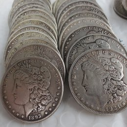 Wholesale Wholesale Decoration Different - 28pcs Morgan Dollars 1878-1921 Different Dates 'S' Mintmark Copy Coins Freeshipping High Quality