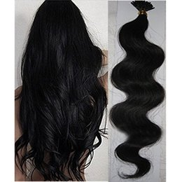 Wholesale I Tip Virgin Remy - Resika I Tip Hair Extensions 10 Colors 16 Inches Body Wave Indian Brazilian Peruvian Virgin Remy Hair Pre Bonded Keratin Hair Extensions
