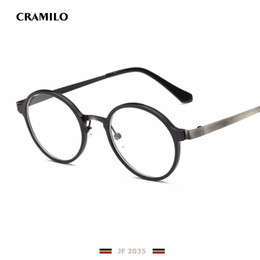 Wholesale Antique Oval Frame - Wholesale- Rita New retro oval antique glasses frames male metal JF2035 gray clear lens frames for women optical glasses armacao oculos