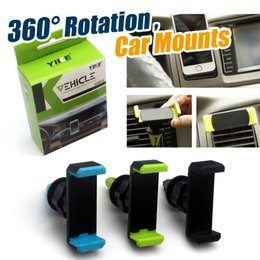 Wholesale Mobile Light For Car - Universal Car Air Vent Mount GPS Holder 360 Degree Rotating for iPhone 6 6+ 6 Plus Samsung Galaxy S6 HTC LG Mobile Phone