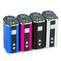 Wholesale Ecigarette Vv Battery - iSmoka Eleaf Mini iStick 10W iStick Mini 1050mah VV Ecigarette Battery With OLED Screen Simple Pack 100% Original Best Match GS16S GS Air