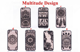 Wholesale Clear Flower Iphone Case - Fashion Sexy Lace Floral Paisley Flower Mandala Henna Clear Case For iphone 6 6S 7 6s 7 Plus Phone Cases Cartoon Capa Back Cover free
