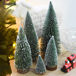 Wholesale Cheap Christmas Trees Decorations - Wholesale Cheap High Quality Mini The Christmas tree Different Size Green Desktop Decor With Snowflake Christmas Decorations