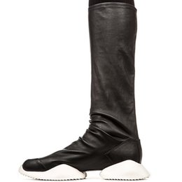 Wholesale Outfit Shoes Women - Fashion Boots Owen Women Shoes Over Knees High-TOP Stretchy PU Leather Luxury Casual Thigh High Boots Top Designer Sexy Shoes Cool Outfit