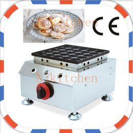 Wholesale Commercial Dispenser - Free Shipping 25pcs Commercial Use Non-stick Little Mini Dutch Pancake LPG Gas Poffertjes Baker Maker Iron Machine + Batter Dispenser