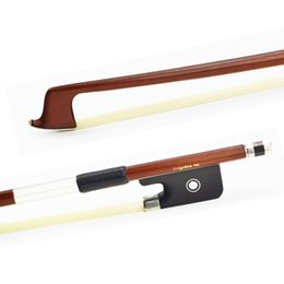 Wholesale Viola Bows - Wholesale- 310M VIOLA BOW Brazilwood Stick Ebony Frog Nickel Silver Mounted Natural White Mongolia Horsehair Violin Parts Accessories