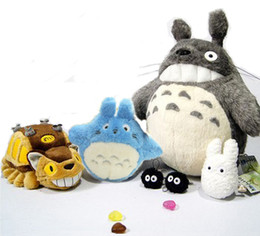 Wholesale Peluche Toy - Wholesale- 2016 New Arrivals My Neighbor Totoro Plush 6pcs set Family Set Pelucia Doll Kids Toys Upgrade Ghibli CATBUS Peluche
