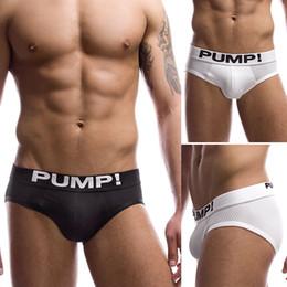 Culotte de pompe en Ligne-Touchdown Classic Briefs PUMP! Slip en coton respirant Slips en coton Calzoncillos Sexy Undies Noir Blanc S M L XL