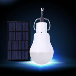 Wholesale Led Bulbs For Street Lights - Solar Powered Led Light Bulb Portable Led Solar Lamp Spotlight With 0.8w Solar Panel for Outdoor Hiking Camping Tent Fishing Lighting