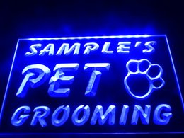 Wholesale Led Paw Print - DZ047b- Name Personalized Custom Pet Grooming Paw Print Bar Beer LED Neon Beer Sign