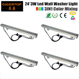Wholesale Rgb Color Meter - TIPTOP Stage Light 4XLOT IP65 Chinese Lighting Led Linear RGB Wall Washer Light 1 meter Long 24x3W Tianxin Lamp Decorative Light