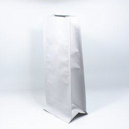 Wholesale Vacuum Valve - 11*27cm 15Pcs Lot Stand Up Open Top Matte Pure Aluminum Foil Oragan Bags With Air Evacuation Valve Vacuum Seal Food Package Bag