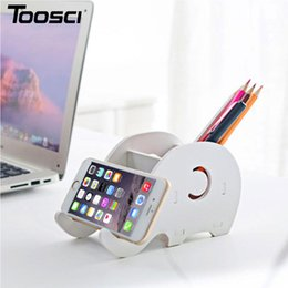 Wholesale Elephant Phone Stand - Free Shipping Hot Selling Portable Removable Cartoon Elephant Desktop Holder Lazy Stand Bracket For Tablet Mobile Phone Holder