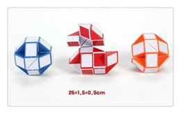 Wholesale Cube Jigsaw - 2017 new Intelligence toys Blue  Red Snake Magic Cube Twist Jigsaw Puzzle Magic Ruler 3D Snake Toys Gifts