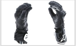 Wholesale Finger Pro - Motorcycle Gloves GP PRO Men Full Finger Leather Glove Motocross Racing Moto Motorbike Luvas Guantes