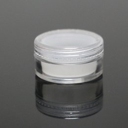 Wholesale Clear Plastic Jars For Cosmetics - 5ml acrylic silicone jar clear plastic wax container silicone bho oil liner plastic storage box for cosmetics silicone dabber