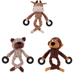 Wholesale Quality Dog Toys Wholesale - Corduroy Dog Chew Sound Toys Solid Resistance To Bite Playable High Quality Funny Pet Toy Monkey Bear Pet Supplies Wholesale 0704096