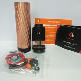 Wholesale Wholesale Directly China - Good quality clone Geekvape karma kit from china factory directly 18650 mechanical MOD kit Big post-holes for bigger coil build 5ml tank