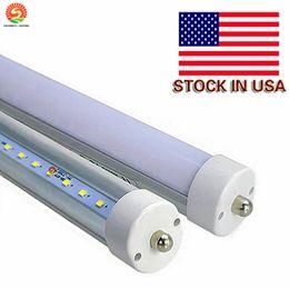 USA Stock 45W 8ft tubo de luz LED color blanco cálido 3000K T8 AC100-305V cubierta transparente esmerilada FA8 solo pin LED lámparas de tubo fluorescente desde fabricantes