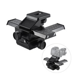 Wholesale dc pro - Pro 4-Way Macro Focusing Focus Rail Slider Close-Up Shooting for Digital SLR Camera and DC with Standard 1 4-Inch Screw Hole